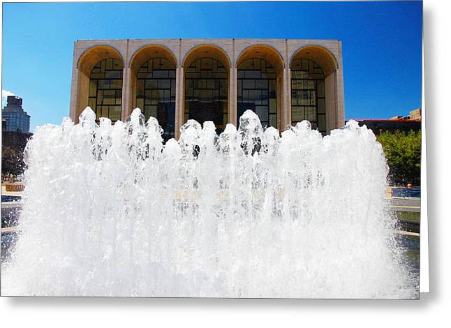 Lincoln Centre Greeting Card by Valentino Visentini