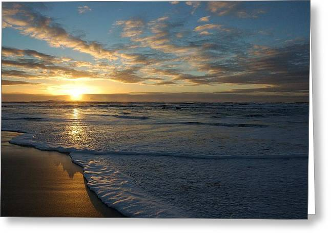 Lincoln City Beach Sunset Greeting Card