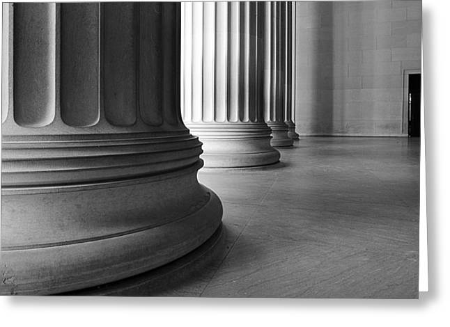 Lincoln Columns Greeting Card