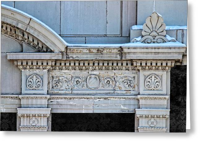 Lincoln County Courthouse Door Arch Greeting Card by Sylvia Thornton