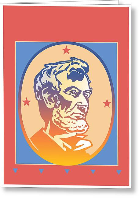Lincoln Greeting Card by David Chestnutt