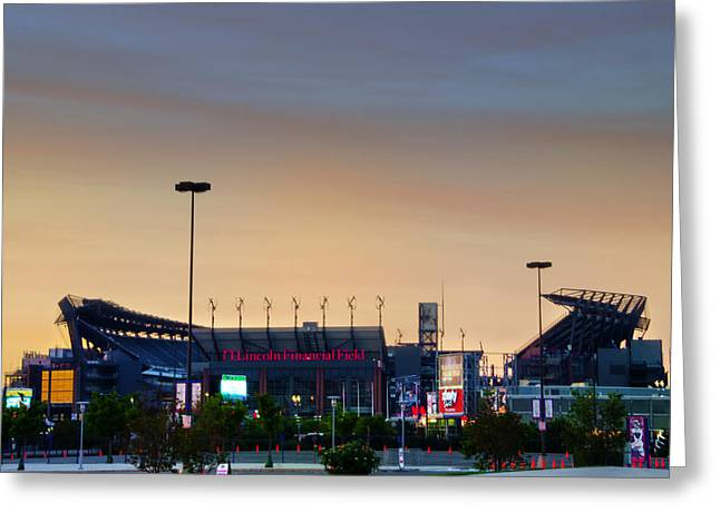 Lincoln Financial Field In A New Light Greeting Card by Bill Cannon