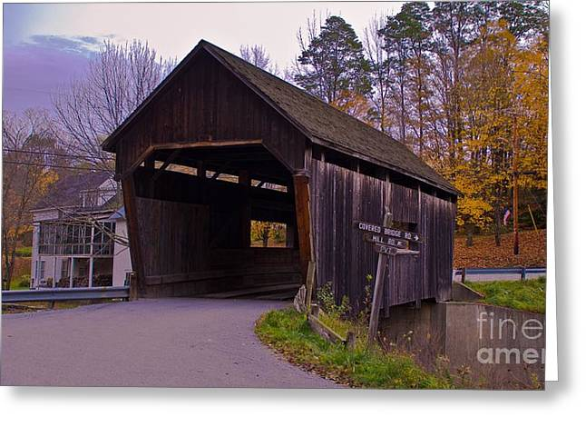 Lincoln Gap Covered Bridge.  Greeting Card
