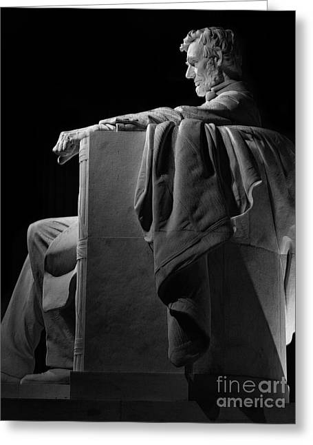 Lincoln In Black And White Greeting Card by Jerry Fornarotto