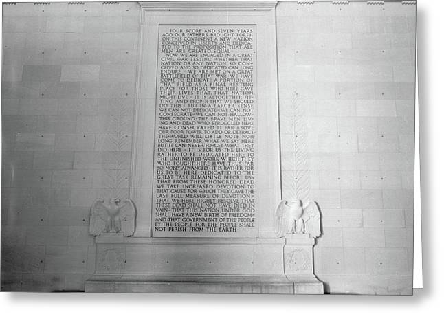 Lincoln Memorial, 1991 Greeting Card