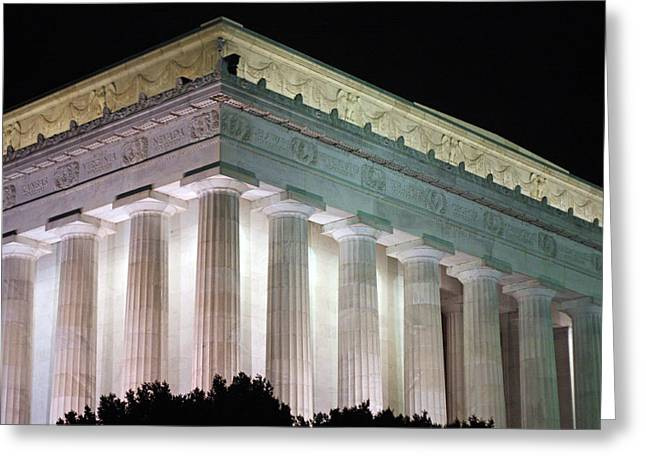 Lincoln Memorial At Night Greeting Card