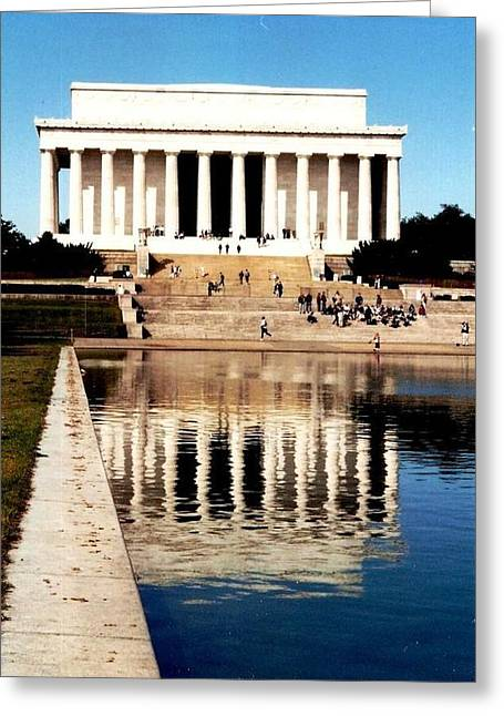 Greeting Card featuring the photograph Lincoln Memorial by Daniel Thompson