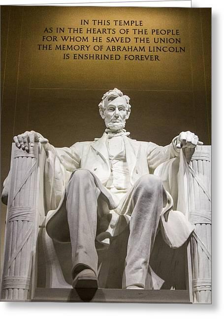 Lincoln Memorial In D.c.  Greeting Card
