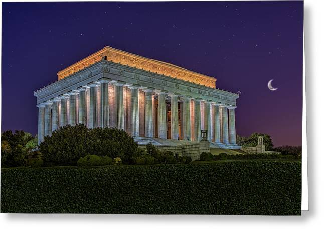 Lincoln Memorial Under The Stars Greeting Card