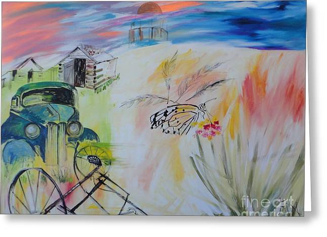 Greeting Card featuring the painting Lincoln Nebraska by PainterArtist FIN