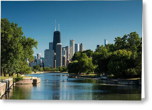 Lincoln Park Chicago Greeting Card by Steve Gadomski