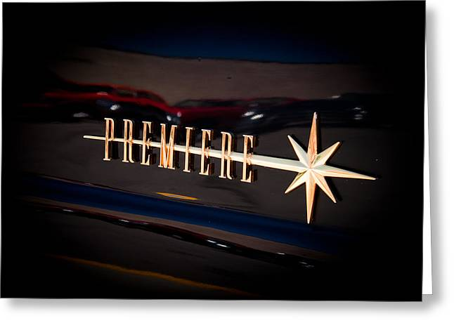 Greeting Card featuring the photograph Lincoln Premiere Emblem by Joann Copeland-Paul