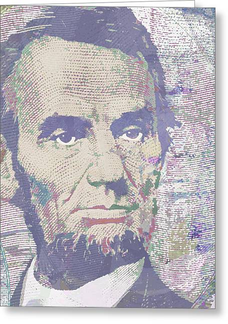 Lincoln Reimagined Vertical Greeting Card by Tony Rubino