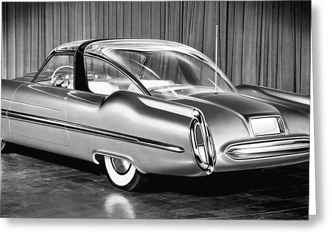 Lincoln Xl-500 Concept Car Greeting Card by Underwood Archives