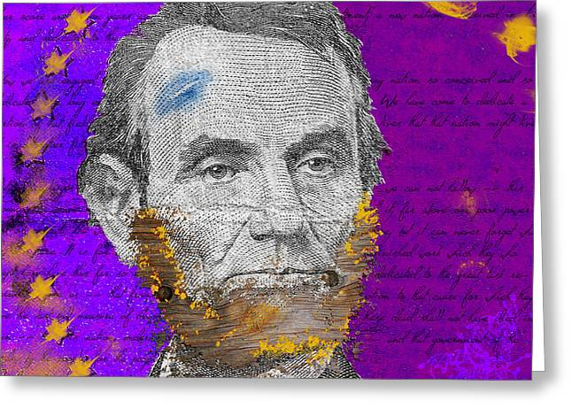 Lincoln's Beard Greeting Card by Daryl Burd
