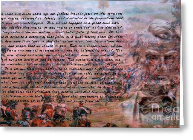 Lincoln's Gettysburg Address Greeting Card by Randy Steele