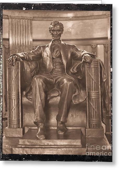 Lincoln's Tomb And His Statue Greeting Card