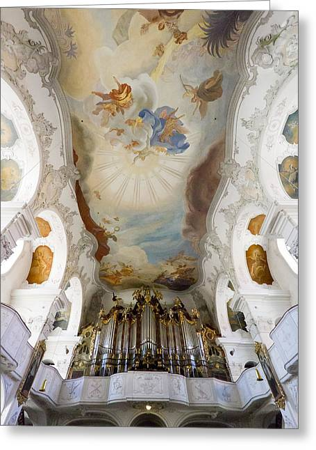 Lindau Organ And Ceiling Greeting Card