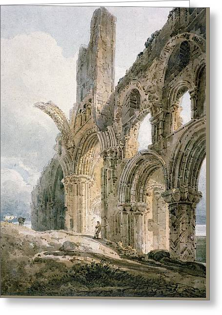 Lindisfarne Abbey Greeting Card by Thomas Girtin