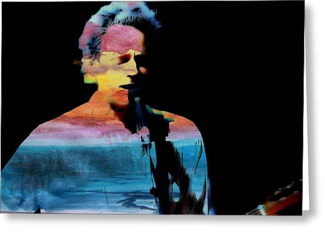 Lindsey Buckingham Greeting Card by John Delong