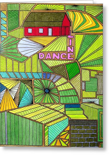 Line Dance Greeting Card