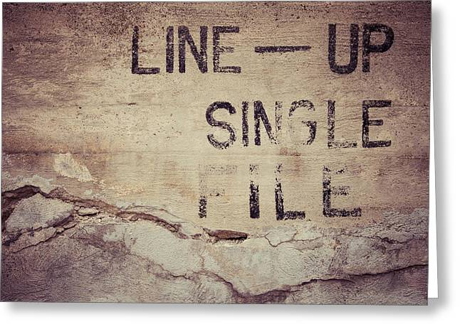 Line Up Single File Greeting Card