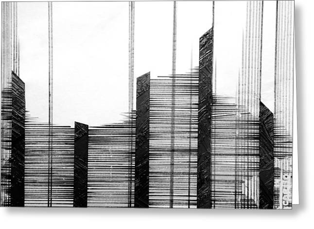 Linear Lines Greeting Card by Andres Carbo