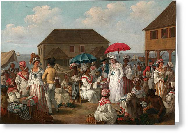 Linen Market, Dominica Linen Day, Roseau Greeting Card by Litz Collection