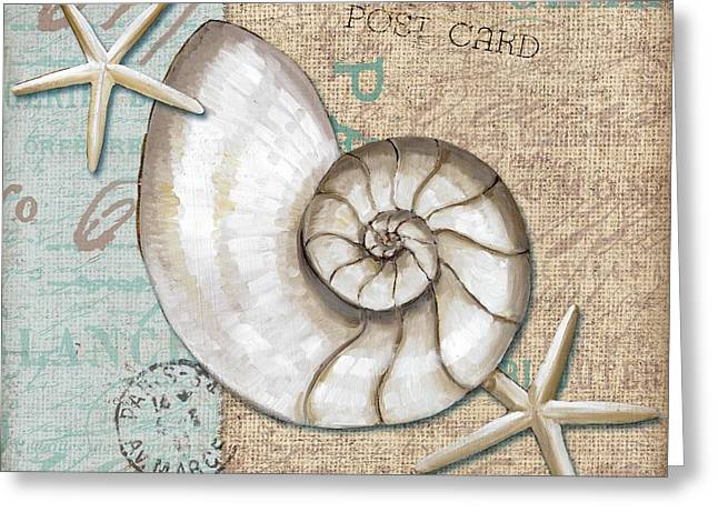 Linen Shells IIi Greeting Card
