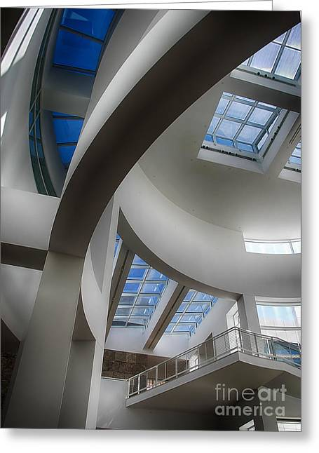 Lines And Curves Greeting Card by Anne Rodkin