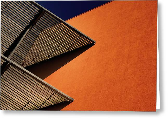 Lines And Shadows. Greeting Card by Harry Verschelden