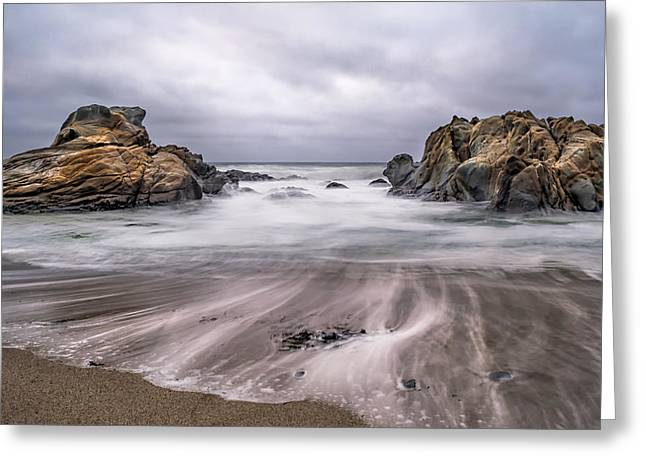 Lines In The Sand Greeting Card by Linda Villers