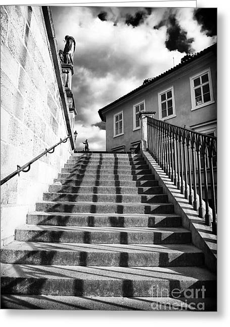 Lines On The Stairs Greeting Card by John Rizzuto