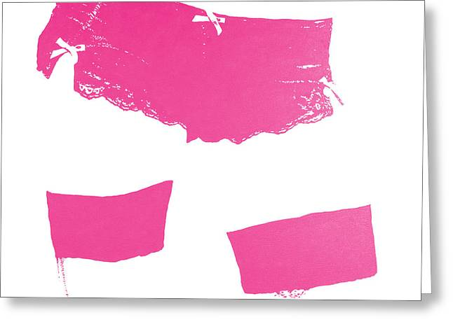 Lingerie Iv Magenta Greeting Card by John Silver