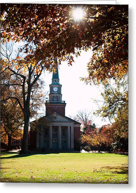 Lingle Chapel - Davidson College Greeting Card by Paulette B Wright