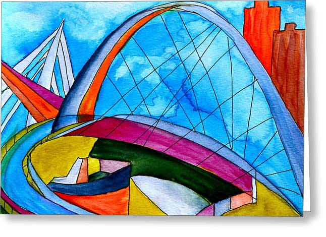 Linking Greeting Card by Beverley Harper Tinsley