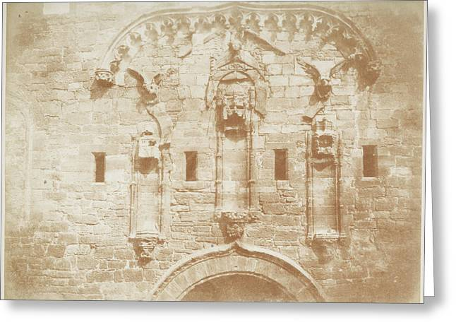 Linlithgow Palace Wall Greeting Card by British Library