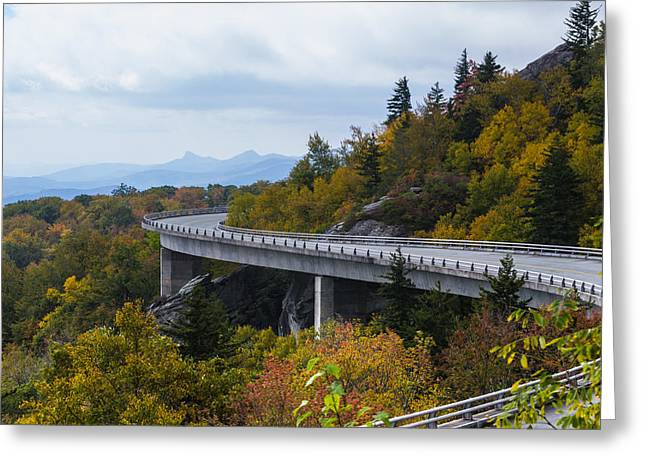 Greeting Card featuring the photograph Linn Cove Viaduct by Gregg Southard