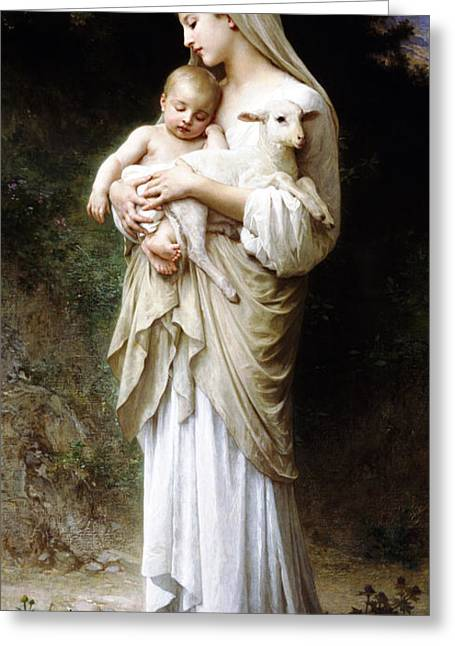 L'innocence By Bouguereau Greeting Card