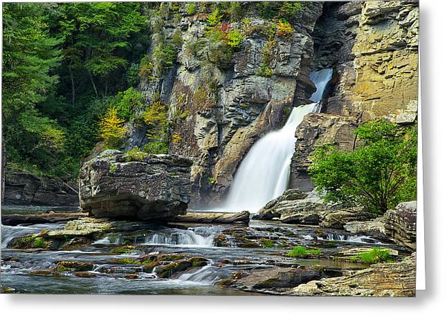Linville Falls Greeting Card by Mark Steven Houser