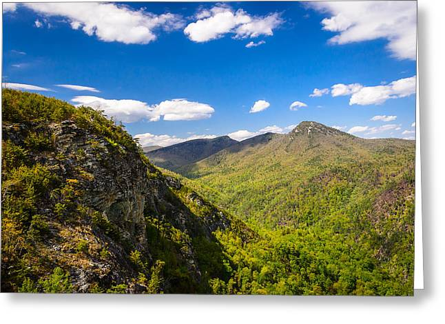 Linville Gorge Hike Greeting Card by Serge Skiba