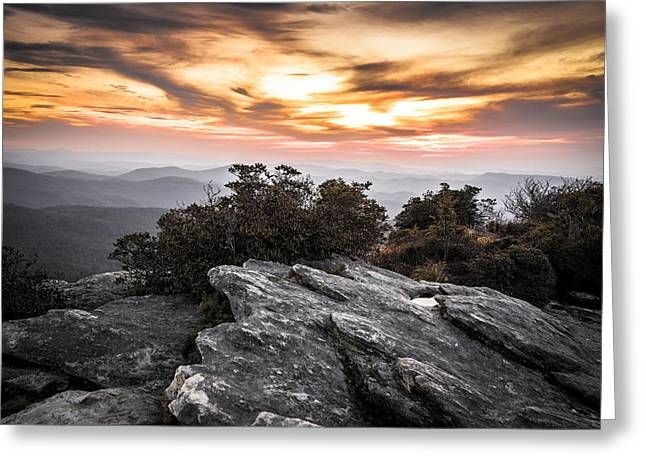Linville Gorge Sunrise Greeting Card