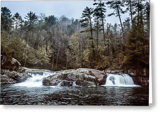 Linville Upper Falls Greeting Card
