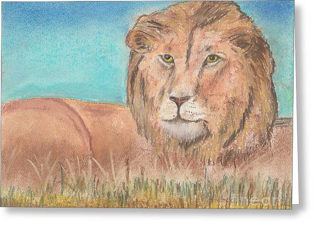 Lion Greeting Card by David Jackson