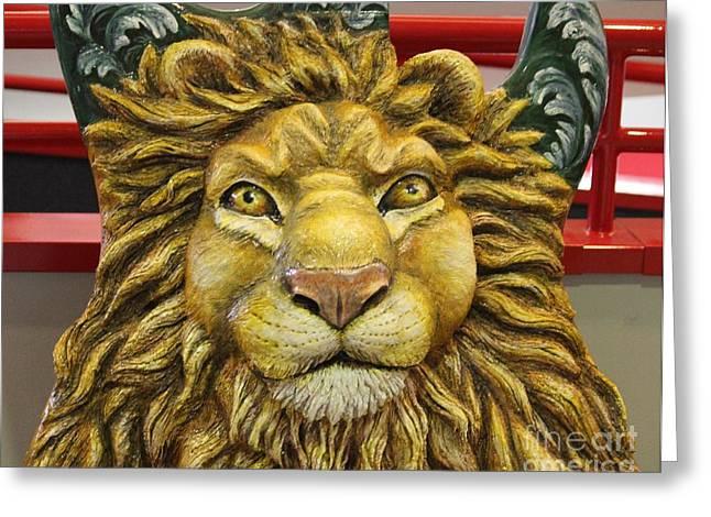 Lion Face Guitar Greeting Card