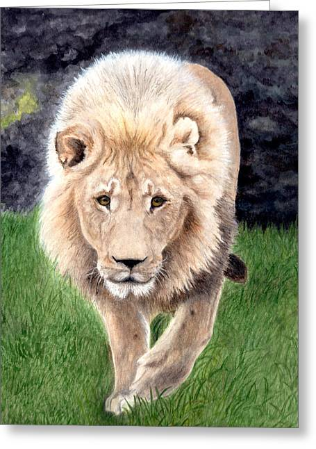 Lion From Woodland Park Zoo Greeting Card