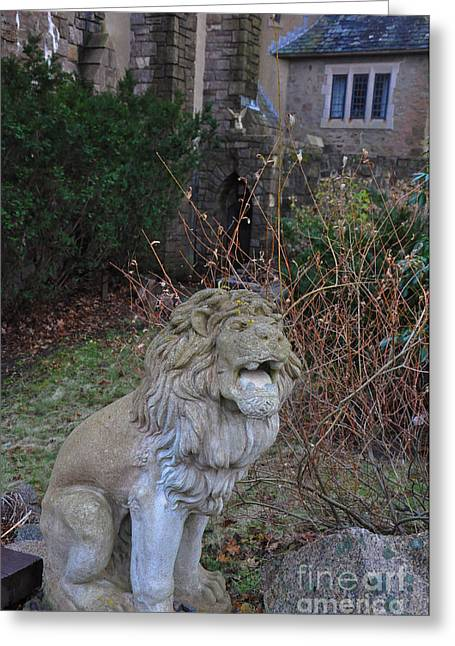 Lion Gargoyle Greeting Card