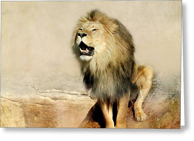 Lion Greeting Card by Heike Hultsch