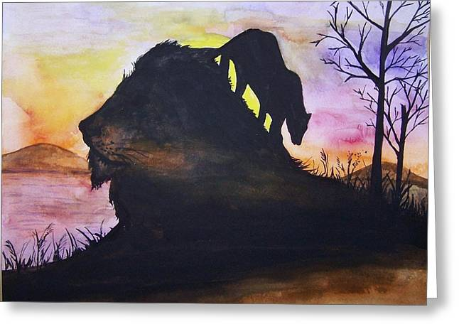 Lion Greeting Card by Laneea Tolley
