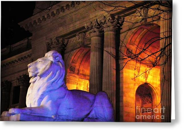 Lion Nyc Public Library Greeting Card
